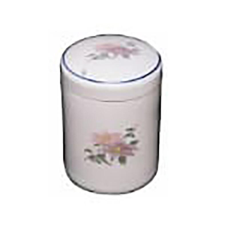骨壷 白花