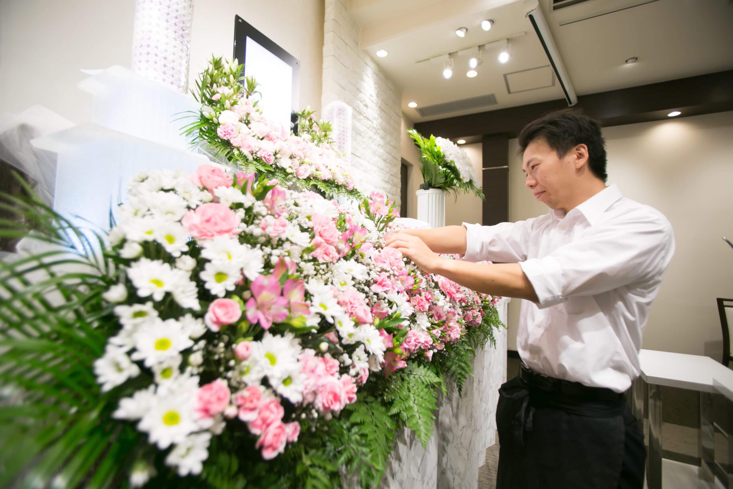 博愛社花祭壇